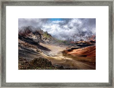 Craters Edge Framed Print