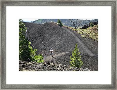 Craters Of The Moon Hiking Trail Framed Print by Jim West