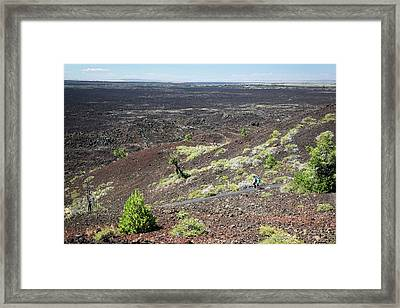 Craters Of The Moon Landscape Framed Print by Jim West