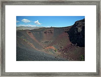 Craters Of The Moon Volcanic Crater Framed Print by Jim West