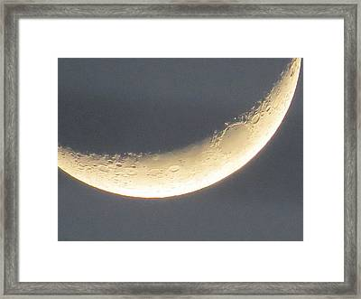 Craters On The Moon Framed Print by Zina Stromberg