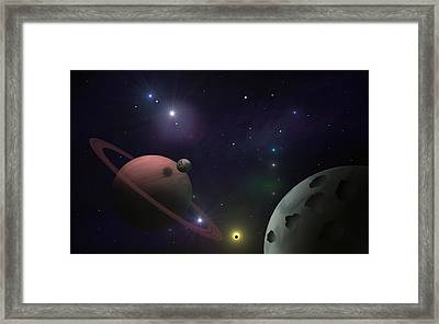 Craters Framed Print by Ricky Haug