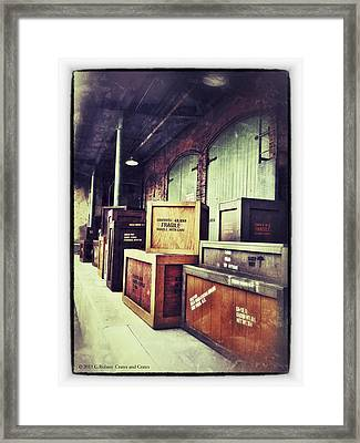 Crates And Crates Framed Print by Gerry Robins