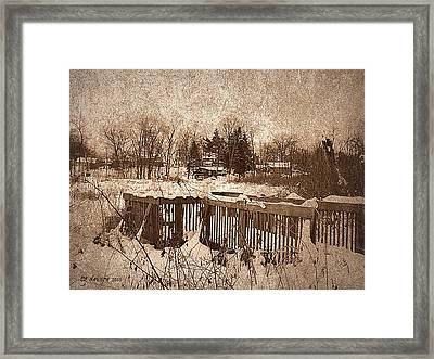 Craven Skate Framed Print by Tg Devore