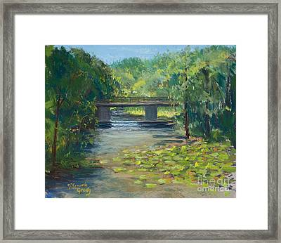 Crawdaddy Falls Framed Print by J Kenneth Grody