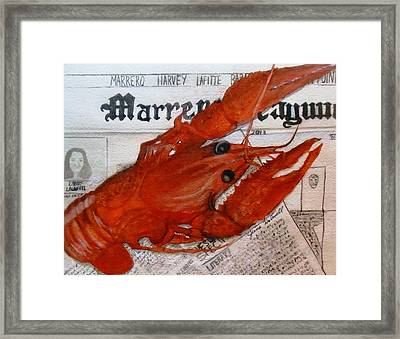 Crawdaddy Framed Print