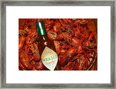 Crawfish And Tabasco Framed Print by Donna G Smith