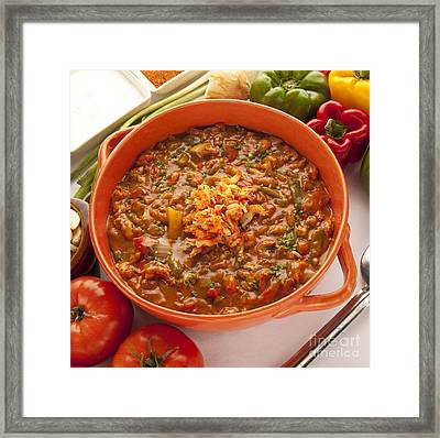 Crawfish Etouffe Framed Print by New  Orleans Food