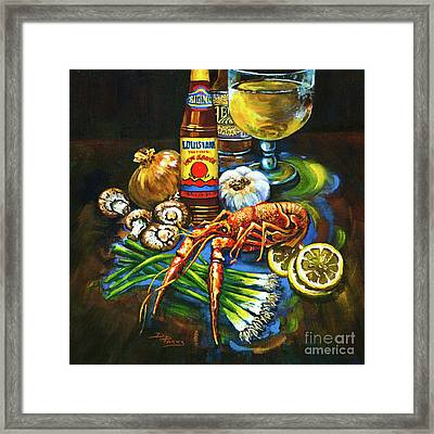 Crawfish Fixin's Framed Print by Dianne Parks