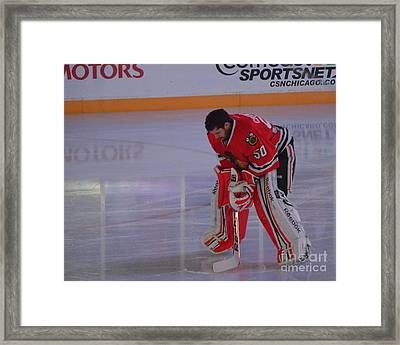 Crawford During The Anthem Framed Print by Melissa Goodrich