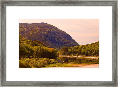 Crawford Notch Homage To Thomas Cole Framed Print