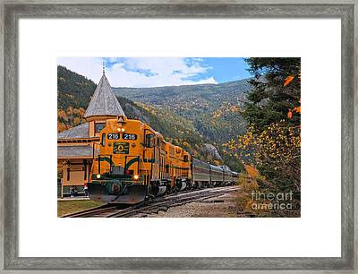 Crawford Notch Train Depot Framed Print