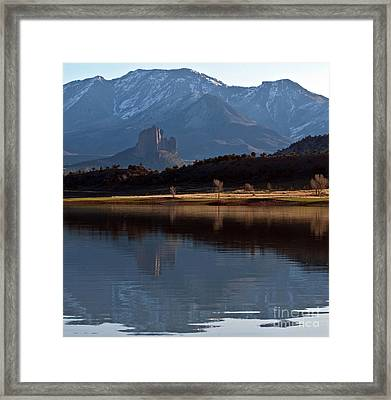 Framed Print featuring the photograph Crawford Reservoir And Needlrock by Eric Rundle