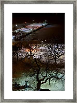 Crawford Wharf Framed Print by Paul Wash