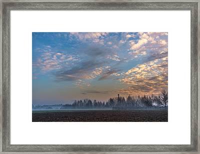Crawling Mist Framed Print