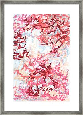 Crawling Pink Framed Print