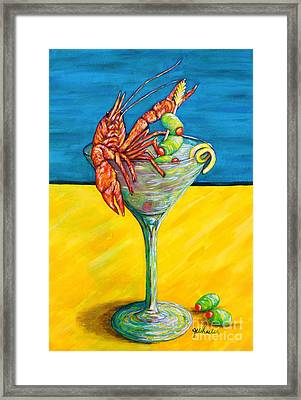 Crawtini Framed Print by JoAnn Wheeler