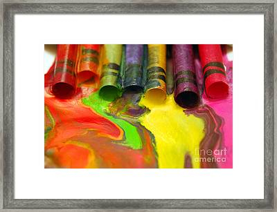 Crayon Cooperation Framed Print