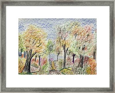 Crayon Road Framed Print by Michael Anthony Edwards
