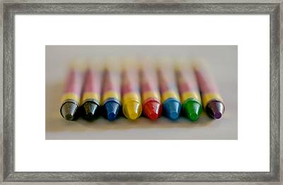 Crayons Framed Print by Robert  Aycock