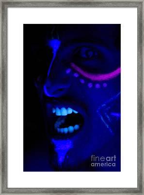 Crazed Hunger Framed Print by Xn Tyler