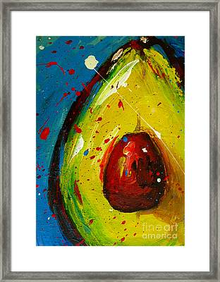 Crazy Avocado 4 - Modern Art Framed Print