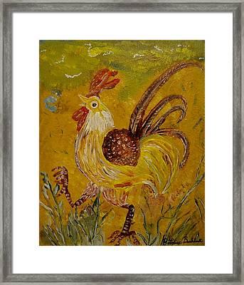 Crazy Chicken Framed Print