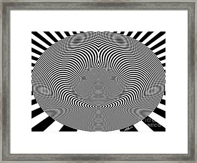 Crazy Circles Framed Print by Methune Hively