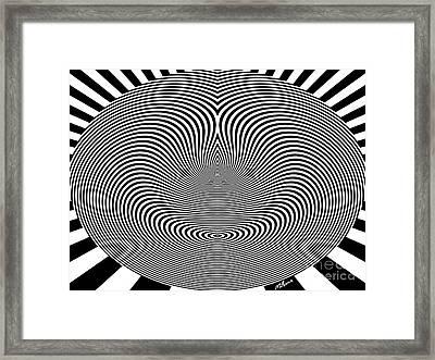 Crazy Circles Framed Print