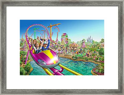 Crazy Coaster Framed Print