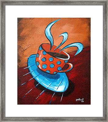 Crazy Coffee Framed Print