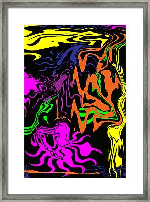 Crazy Colors Abstract Framed Print by Aimee L Maher Photography and Art Visit ALMGallerydotcom