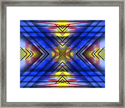 Framed Print featuring the digital art Crazy Daze by Brian Johnson