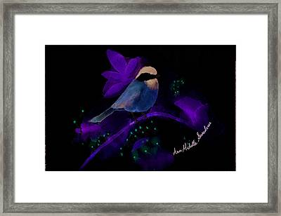 Crazy Exposure Chickadee Framed Print