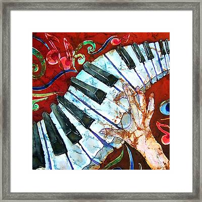 Crazy Fingers Piano Square Framed Print by Sue Duda