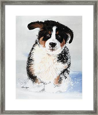 Crazy For Snow Framed Print