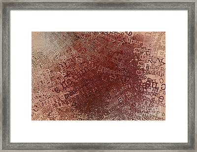 Crazy Grunge Type Abstract Framed Print