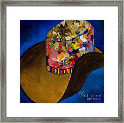 Crazy Hat Framed Print