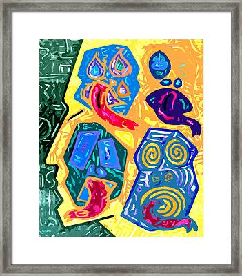 Crazy Head 2 Framed Print by Patrick J Murphy