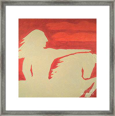 Crazy Horse 1 Framed Print by Richard W Linford