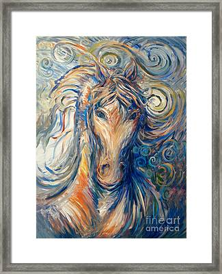 Ride Like The Wind Framed Print by Frederick  Luff