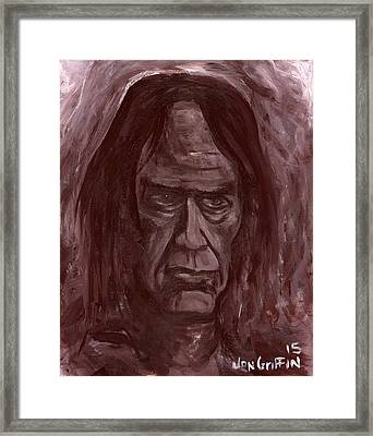 Crazy Horse Framed Print by Jon Griffin