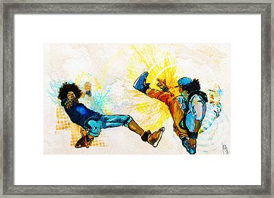 Crazy Legs Framed Print