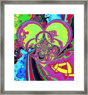 Crazy Love Framed Print by Wendy J St Christopher