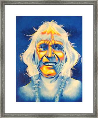 Crazy Man Framed Print by Robert Martinez