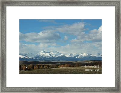 Crazy Mountains 1 Framed Print by Brenda Henley