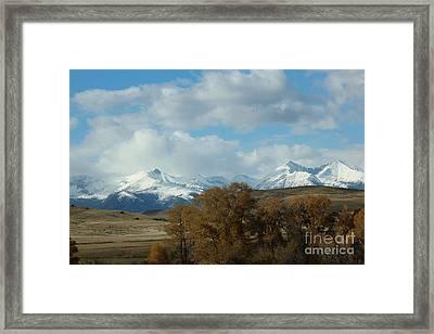 Crazy Mountains 3 Framed Print by Brenda Henley