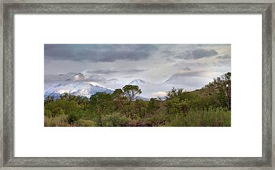 Crazy Mountains Dreamscape Framed Print by Leland D Howard