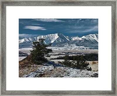 Crazy Mountains Montana Framed Print by Leland D Howard