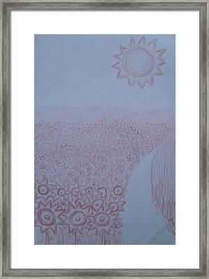 Crazy Quilt Star Gown Framed Print